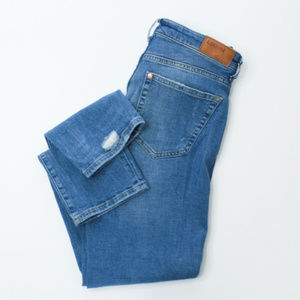 H&M Distressed Slim Ankle Jeans